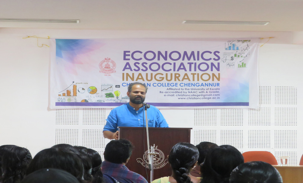 Economics Association Inauguration Dr. Bino Paul, Professor, TISS Mumbai