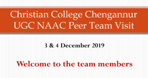 UGC NAAC Peer Team Visit