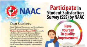 Student Satisfaction Survey (SSS) by NAAC