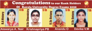 Christian college students – Academic ranks in Kerala University