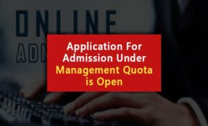 Management quota admission form is available on the website.